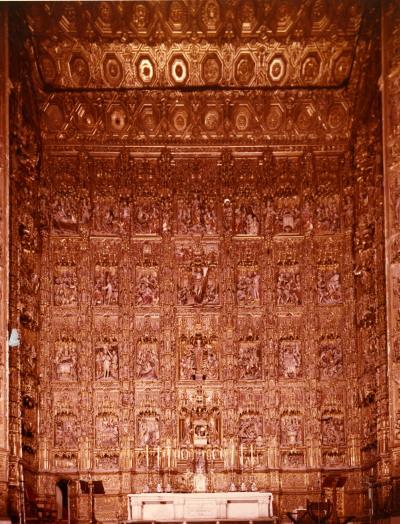 Restauración del Retablo del Altar Mayor de la Catedral de Sevilla. Ayudas a la restauración