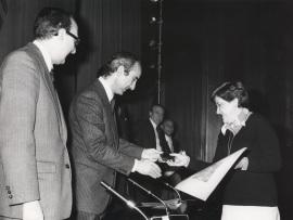 Laly Soldevilla. Entrega de los Premios El Espectador y la Crítica, 1977