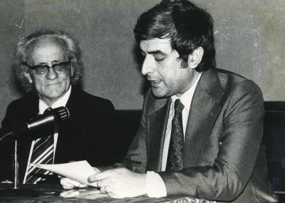 Francesc B. de Moll y José María López Piñero. Presentación del libro Ramón Llull