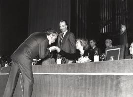 Fernando Rey. Acto de entrega de los Premios de la Sociedad General de Autores Españoles, 1982
