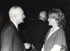 Diego Angulo y Soledad Becerril. Presentación del libro sobre Murillo, 1982