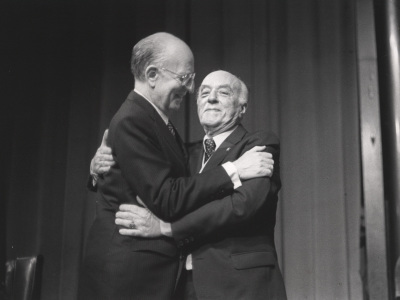 Antonio Fernández-Cid y Ernesto Halffter. Homenaje a Ernesto Halffter