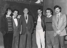 Pablo Galán, Albert Llanas, Xavier Montsalvatge, Francisco Javier López Guereña, José.Manuel López López y Pablo Miyar. Cuarta Tribuna de Jóvenes Compositores, 1985