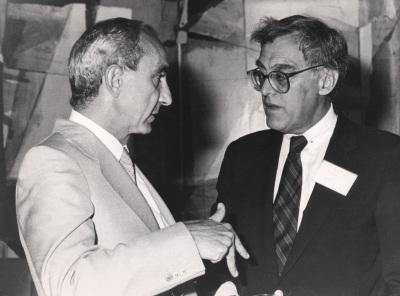 José Luis Yuste Grijalba y Frank E. Loy. Visita de los Miembros de la German Marshall Fund, a la Fundación