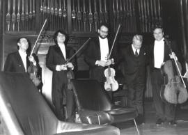 Cuarteto Arcana y Cristóbal Halffter. Concierto en el Acto de entrega del Premio y beca Montaigne/94, 1994