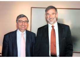 Carlos Martínez Shaw y Geoffrey Parker, 2004