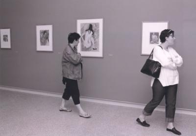 Vista parcial de la exposición De Caspar David Friedrich a Picasso Obras maestras sobre papel del Museo von der Heydt, de Wuppertal