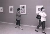 Vista parcial de la exposición De Caspar David Friedrich a Picasso Obras maestras sobre papel del Museo von der Heydt, de Wuppertal, 2001