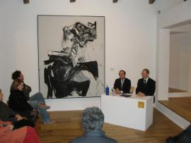 Holger Broeker y Manuel Fontán del Junco. Exposición Gary Hill. Imágenes de luz Obras de la colección del Kunstmuseum Wolfsburg, 2007