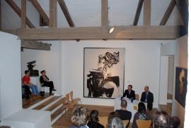 Manuel Fontán del Junco y Thomas Buchsteiner. Exposición Andreas Feininger (1906-1999), 2008