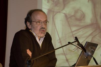 Lino Cabezas en el curso El dibujo en el proceso de creación artística