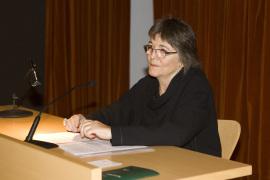 Susana Solano en el curso El dibujo en el proceso de creación artística, 2008