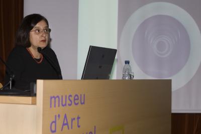 Teresa Lanceta en el curso El movimiento: de la representació a la creación