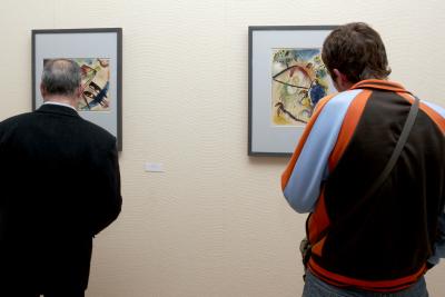 Vista parcial. Exposición Kandinsky, acuarelas Städtische Galerie im Lenbachhaus, Munich