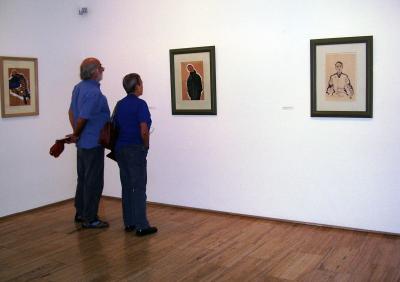 Vista parcial. Exposición Egon Schiele en cuerpo y alma