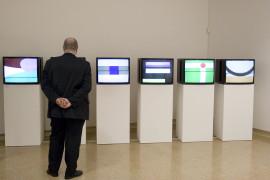 Vista parcial. Exposición Antes y después del Minimalismo Un siglo de tendencias abstractas en la Colección DaimlerChrysler, 2007