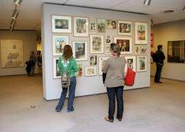 Vista parcial. Exposición la ilustración total (Soz Art) Arte conceptual de Moscú 1960-1990, 2008