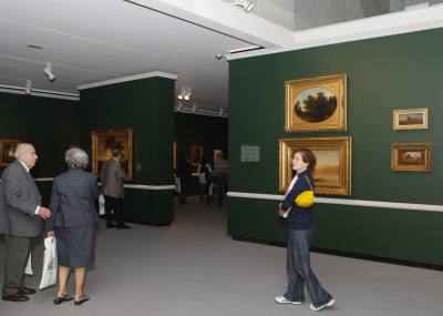 Vista parcial. Exposición Los paisajes americanos de Asher B. Durand (1796-1886)