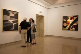 Vista parcial. Exposición Pablo Palazuelo París, 13 Rue Saint Jacques (1948-1968), 2010