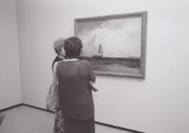 Vista parcial de la exposición Turner y el mar Acuarelas de la Tate, 2002