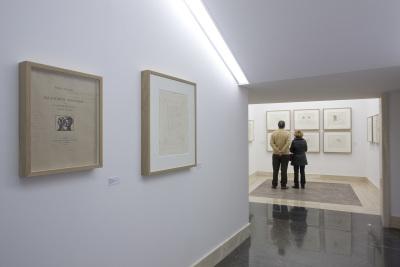 Vista parcial. Exposición Pablo Picasso y La obra maestra desconocida de Honoré de Balzac
