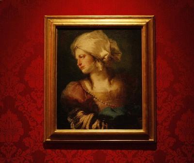 Vista parcial. Exposición Giandomenico Tiepolo (1727-1804). Diez retratos de fantasía