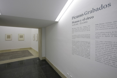 Vista parcial. Exposición Picasso, grabador (1904-1935)