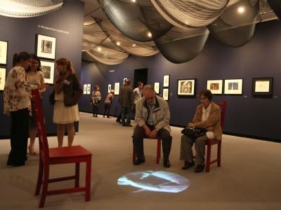 Vista parcial. Exposición Surrealistas antes del surrealismo La fantasía y lo fantástico en la estampa, el dibujo y la fotografía