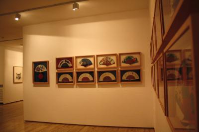Vista parcial. Exposición 59 abanicos de 59 artistas