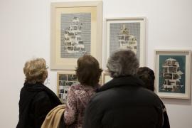 Vista parcial. Exposición Eduardo Arroyo: retratos y retratos, 2013