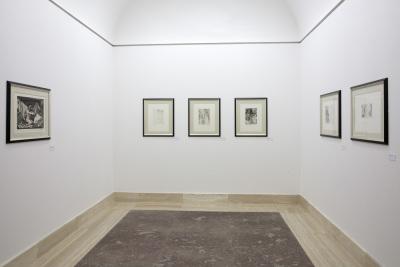 Vista parcial. Exposición Picasso Grabados La Suite Vollard: A la manera de Rembrandt