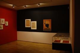 Vista parcial. Exposición Kurt Schwitters. Vanguardia y Publicidad, 2014
