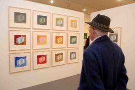Vista parcial. Exposición Josef Albers: medios mínimos, efecto máximo, 2014