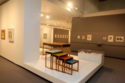 Vista parcial. Exposición Josef Albers: medios mínimos, efecto máximo