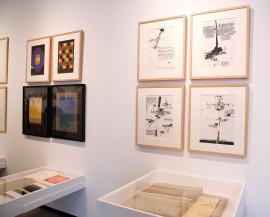 Vista parcial. Exposición Libros (y otras publicaciones) de artista, 1947-2013, 2014