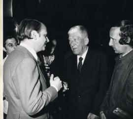 Cristóbal Halffter, Oskar Kokoschka y Lucio Muñoz. Exposición Oskar Kokoschka Óleos, acuarelas, dibujos, grabados, mosaicos y obra literaria, 1975