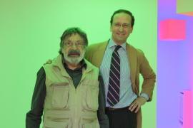 Carlos Cruz-Díez y Manuel Fontán del Junco. Exposición Carlos Cruz-Díez: El color sucede, 2009