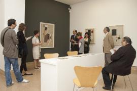Vista parcial. Exposición Willi Baumeister (1889-1955) Pinturas y dibujos, 2011