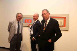 Rafael Moneo, Nicholas Fox Weber y Juan Navarro Baldeweg. Exposición Josef Albers: medios mínimos, efecto máximo, 2014