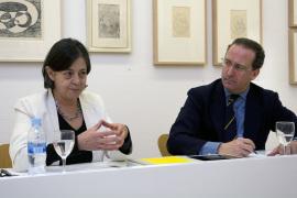 Brenda Danilowitz y Manuel Fontán del Junco. Exposición Josef Albers: proceso y grabado (1916-1976), 2014