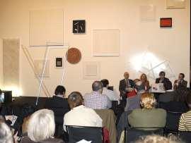 Renate Wiehager, Javier Gomá Lanzón y Manuel Fontán del Junco. Exposición MAXImin Tendencias de máxima minimización en el arte contemporáneo, 2008