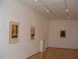Vista parcial de la exposición Esteban Vicente Collages, 2003