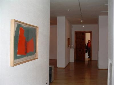 Vista parcial de la exposición Esteban Vicente Collages