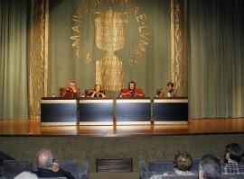 Esther Tusquets, Antonio Martínez Sarrión, Andrés Trapiello y Jordi Gracia. Conferencia sobre Las razones del autobiógrafo - Las máscaras de un género. Literatura y autobiografía en la España contemporánea, 2009