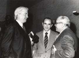 Benjamin H. Brown, José Luis Yuste Grijalba y Fernando Zóbel. Exposición Williem de Kooning Obras recientes, 1979