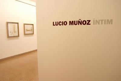 Vista parcial de la exposición Lucio Muñoz Íntimo