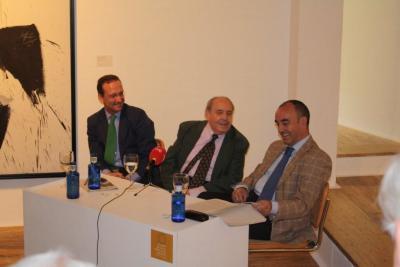 Manuel Fontán del Junco, Gustavo Torner de la Fuente y Alfonso de la Torre. Conferencia sobre Retrato y Memoria de Fernando Zóbel