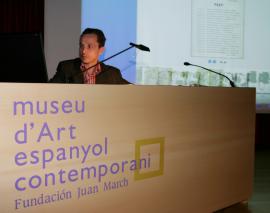 Emmanuel Guigon en el curso sobre Collage, 2004