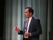 Héctor Guerrero Padrón. En conferencia sobre La exploración extraterrestre - La búsqueda de los confines , 2014
