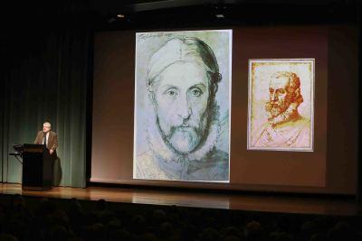 Miguel Falomir. En conferencia sobre Efecto Arcimboldo - Giuseppe Arcimboldo: su vida, su obra, su tiempo